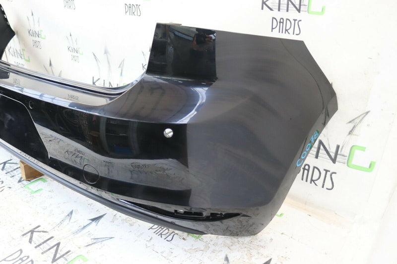 VW GOLF VII MK7 2013-2016 BLACK REAR BUMPER GENUINE PDC HOLES 5G6807421