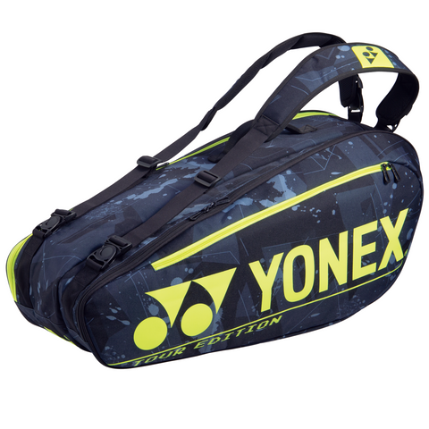 Yonex 2021 Pro Series Badminton Racquet Bag (6 pcs Black Yellow)