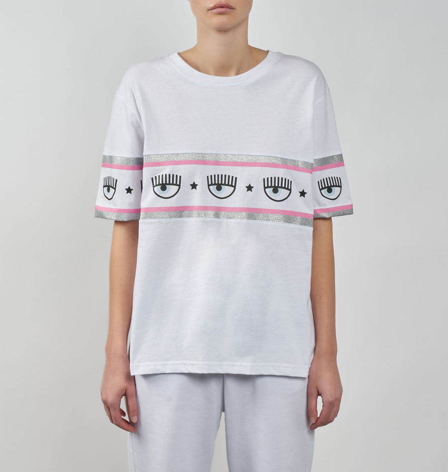 MAXI LOGOMANIA OVERSIZED T-SHIRT