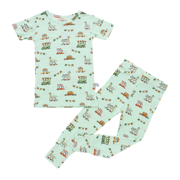 Short Sleeve Pajama Set - Jurassic Riders