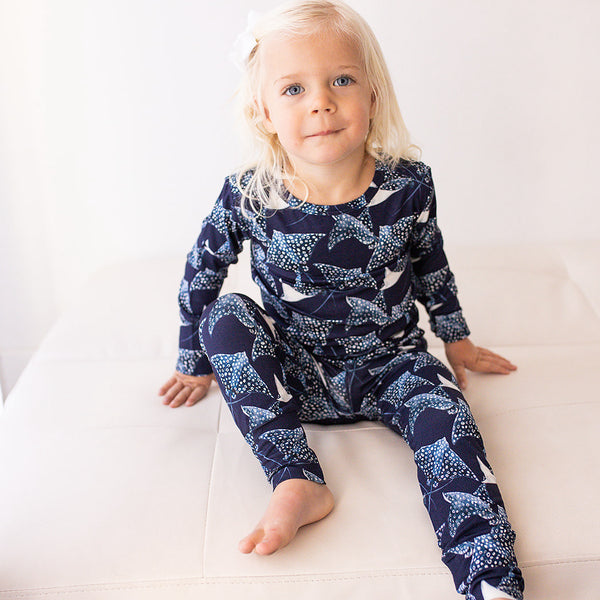 Full Sleeve Pajama Set - Pacific Blue