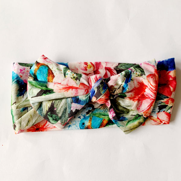 Top Knot Headband - Floral Paradise