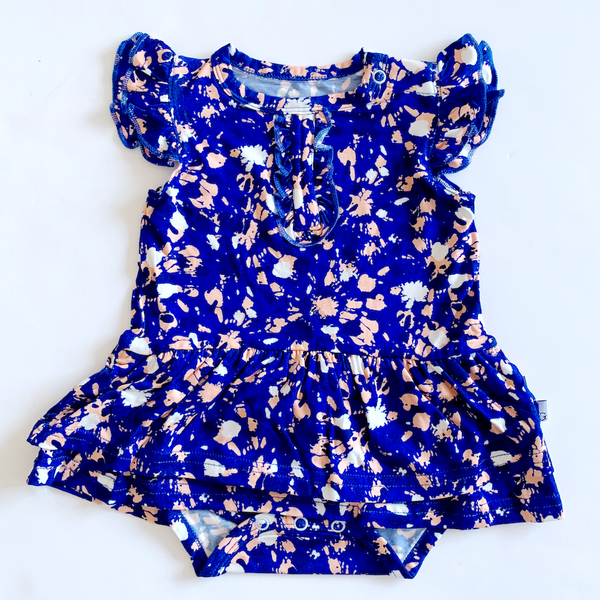 Bodysuit Twirl Dress - Color Splash