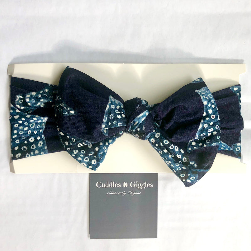 Top Knot Headband - Pacific Blue