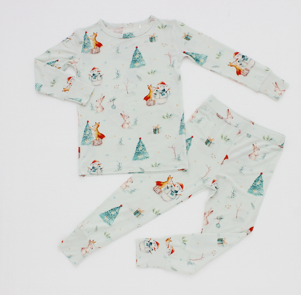Cuddles N Giggles Winter Wonderland PJ set