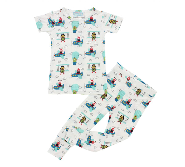 Short Sleeve Pajama Set - Rookie Flyers