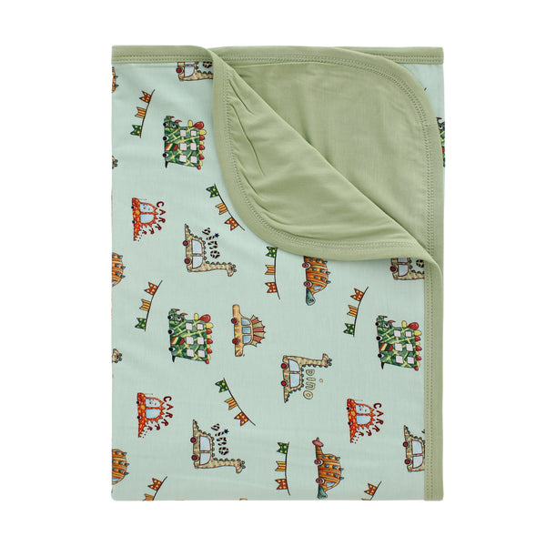 Double Sided Blanket - Jurassic Riders