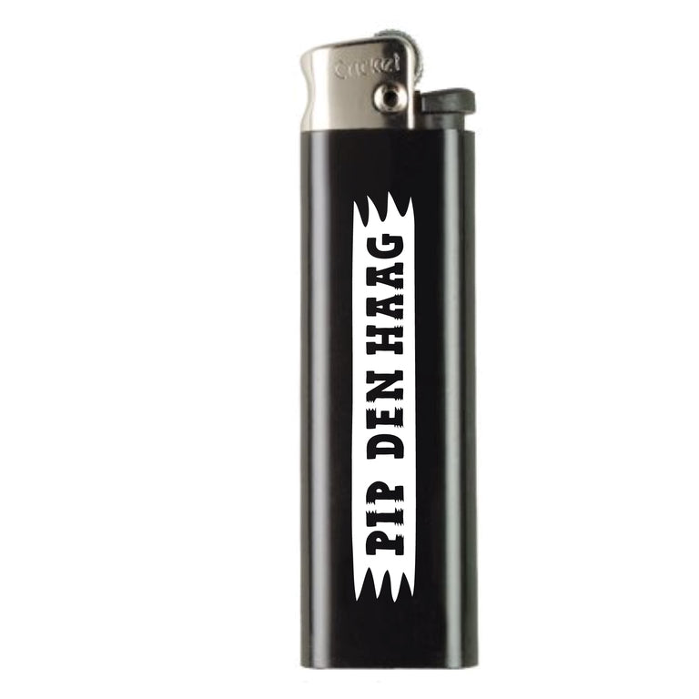 PIP 'LOGO' LIGHTER | WHITE ON BLACK