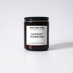 Sunday Morning soy candle sage amber cedarwood candle Borneo Candle Studio Malaysia Brunei