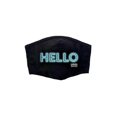 Neon Hello Face Mask