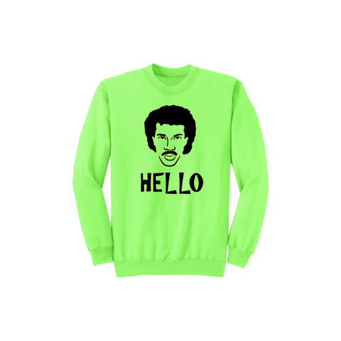 Neon Hello Face Crewneck