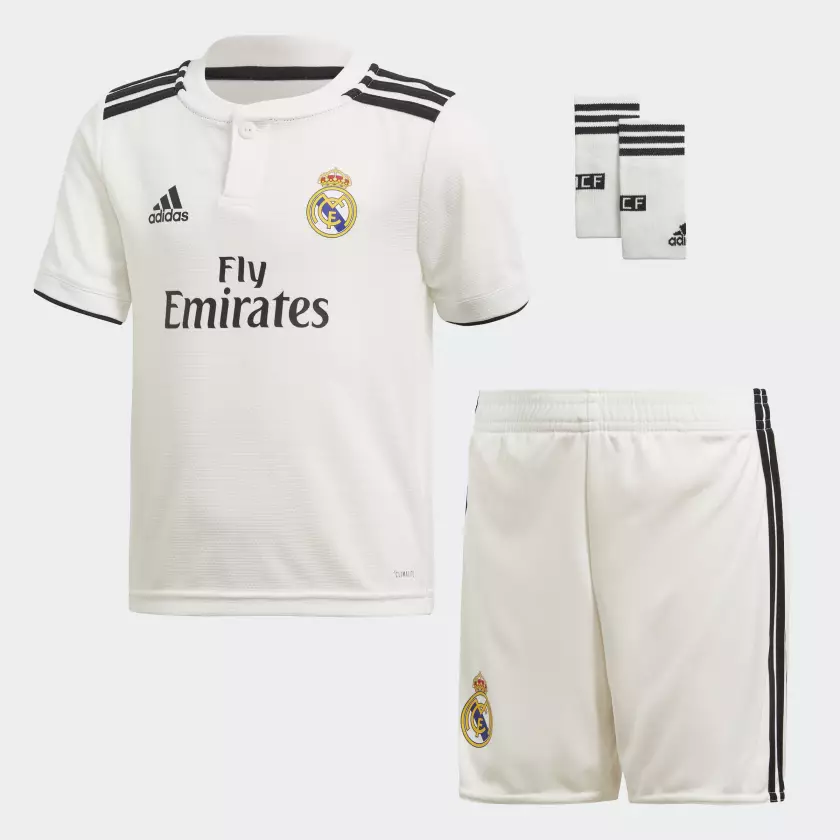 TENUE DE FOOTBALL REAL MADRID C.F. JUNIOR 2018/19 freeshipping - Foot Online