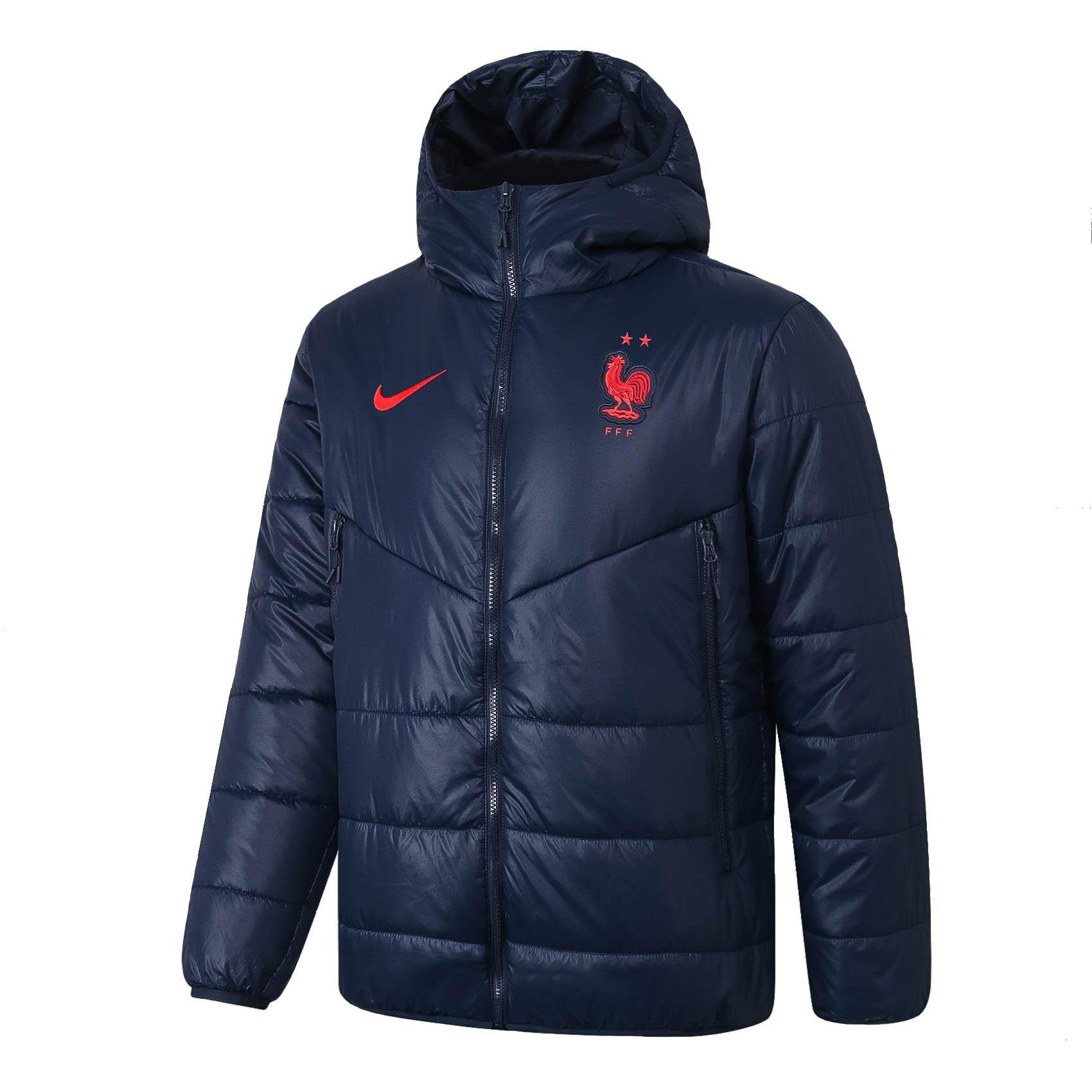 Doudoune Equipe de France Nike Rouge 2021 Homme FFF Foot Online freeshipping - Foot Online