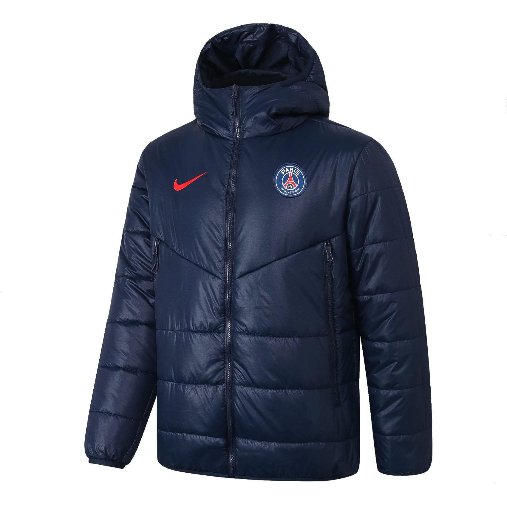 Doudoune PSG Nike Bleu/Rouge 2021 Homme freeshipping - Foot Online