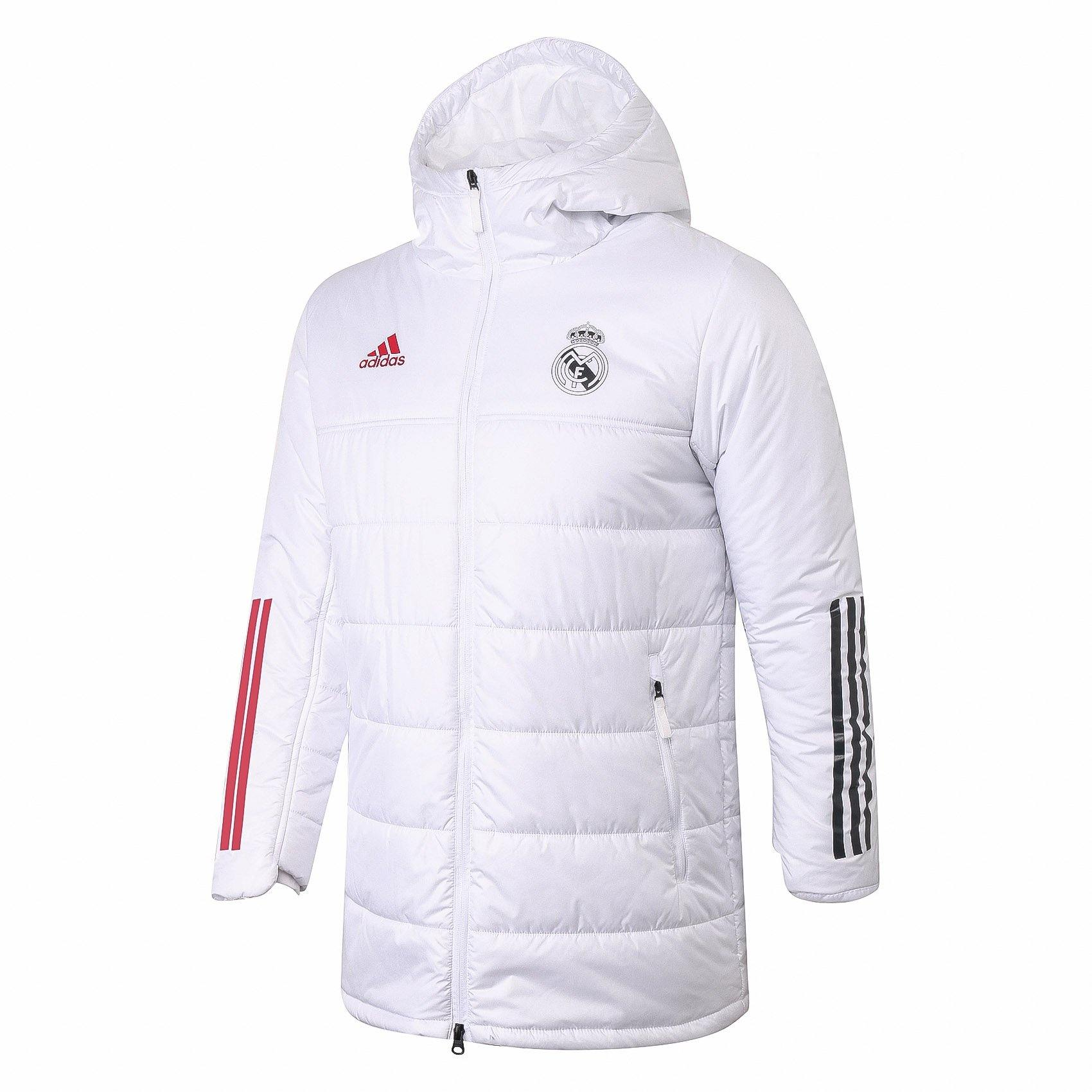 Doudoune Real Madrid Adidas Blanche / Rouge 2021 freeshipping - Foot Online