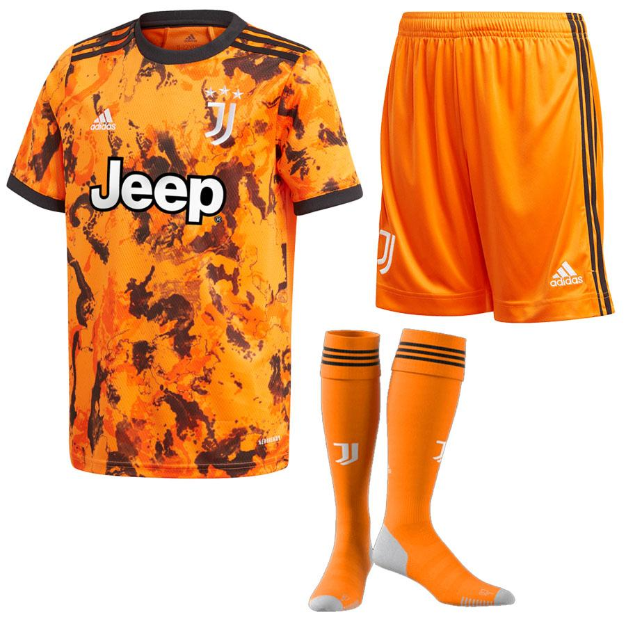 Maillot Kit Juventus Third Orange 2020 2021 - Enfant freeshipping - Foot Online