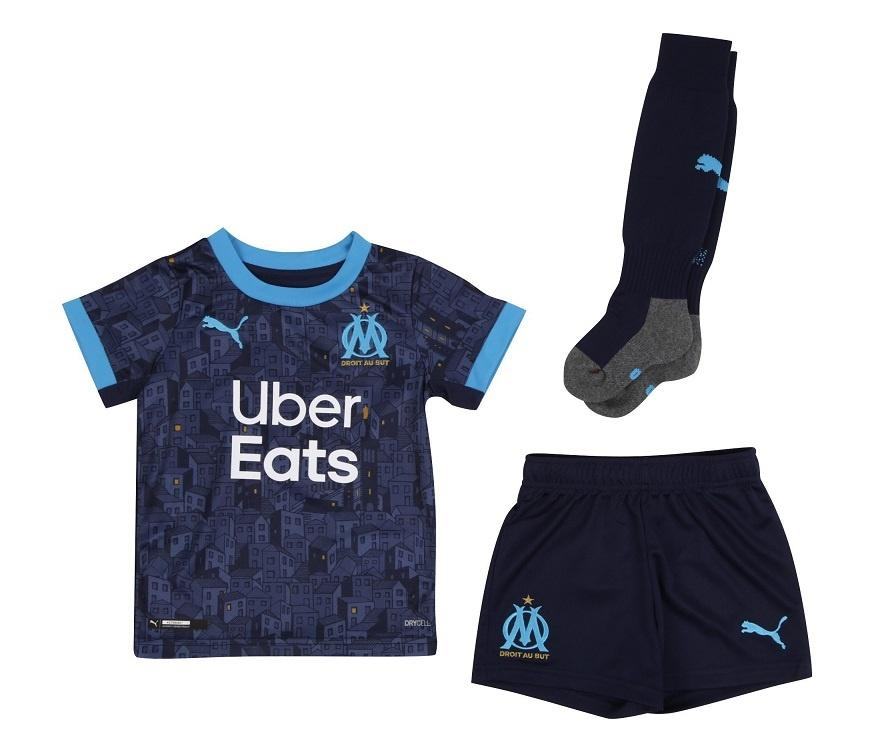Maillot Kit Marseille OM Exterieur 2020 2021 - Enfant freeshipping - Foot Online