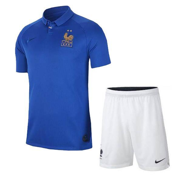 Maillot + Short FFF Junior Centenaire (2 Étoiles) 2020 France Foot freeshipping - Foot Online