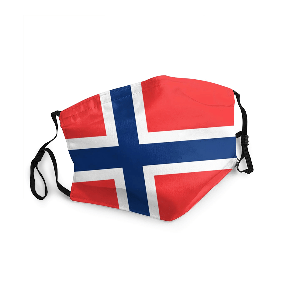 NORVEGE MASQUE DRAPEAU 2020 ADULTE/ENFANT freeshipping - Foot Online