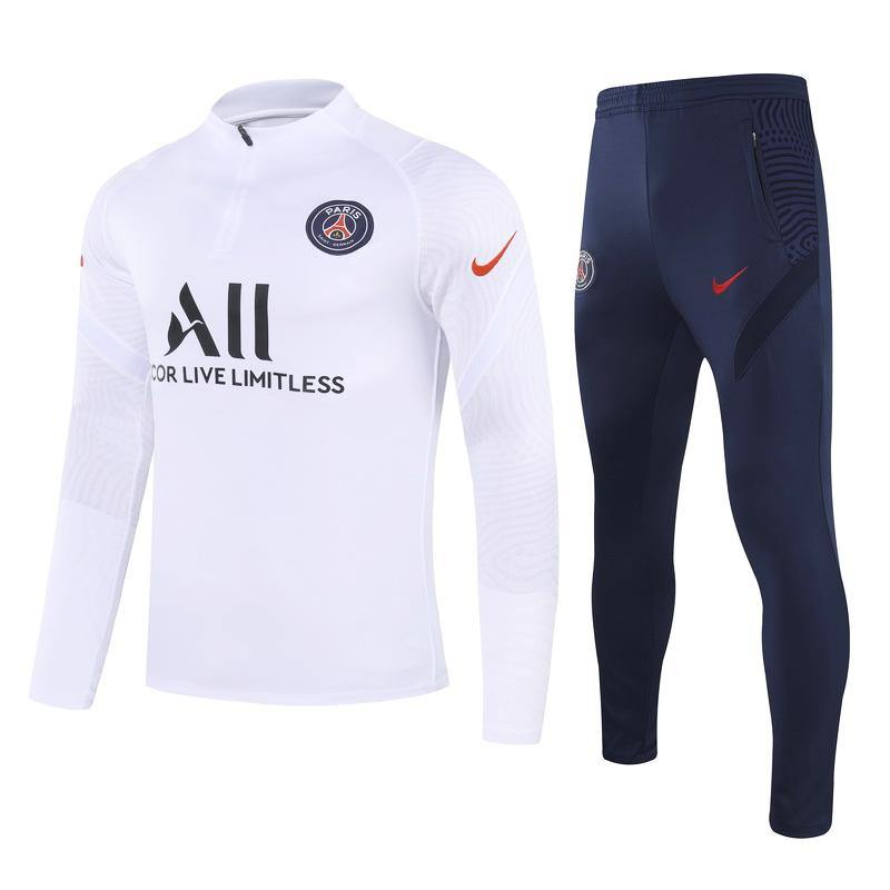 Survetement Paris PSG x Jordan Nike Blanc 2021 Homme Foot Online freeshipping - Foot Online