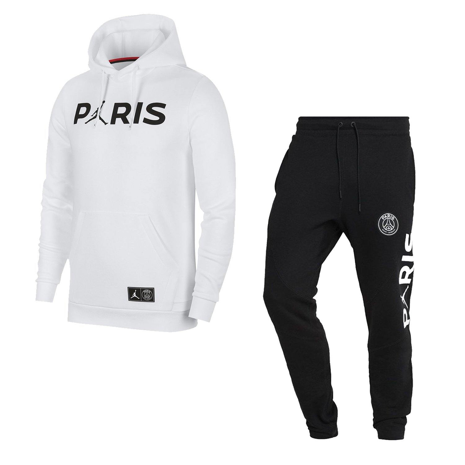 SWEAT A CAPUCHE HOODIE + PANTALON PSG x JORDAN 2018/19 JUNIOR freeshipping - Foot Online