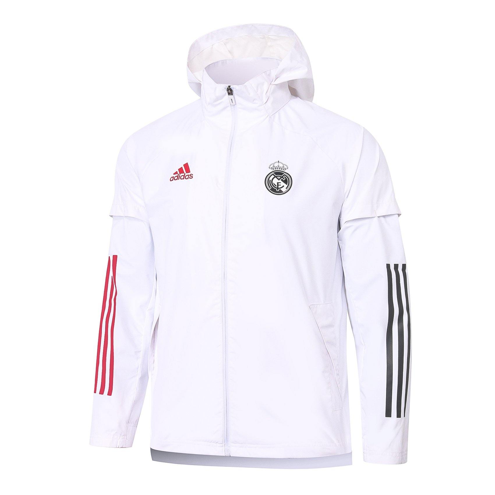 Veste à capuche Real Madrid Blanc Adidas 2021 Homme Foot Online freeshipping - Foot Online