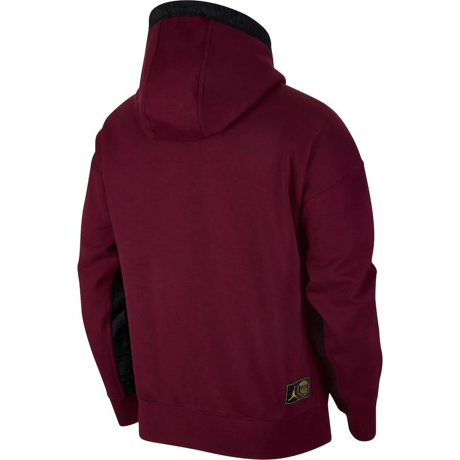 Veste PSG x JORDAN Fleece 2020 2021 NIKE Jumpman Noir/Bordeaux freeshipping - Foot Online