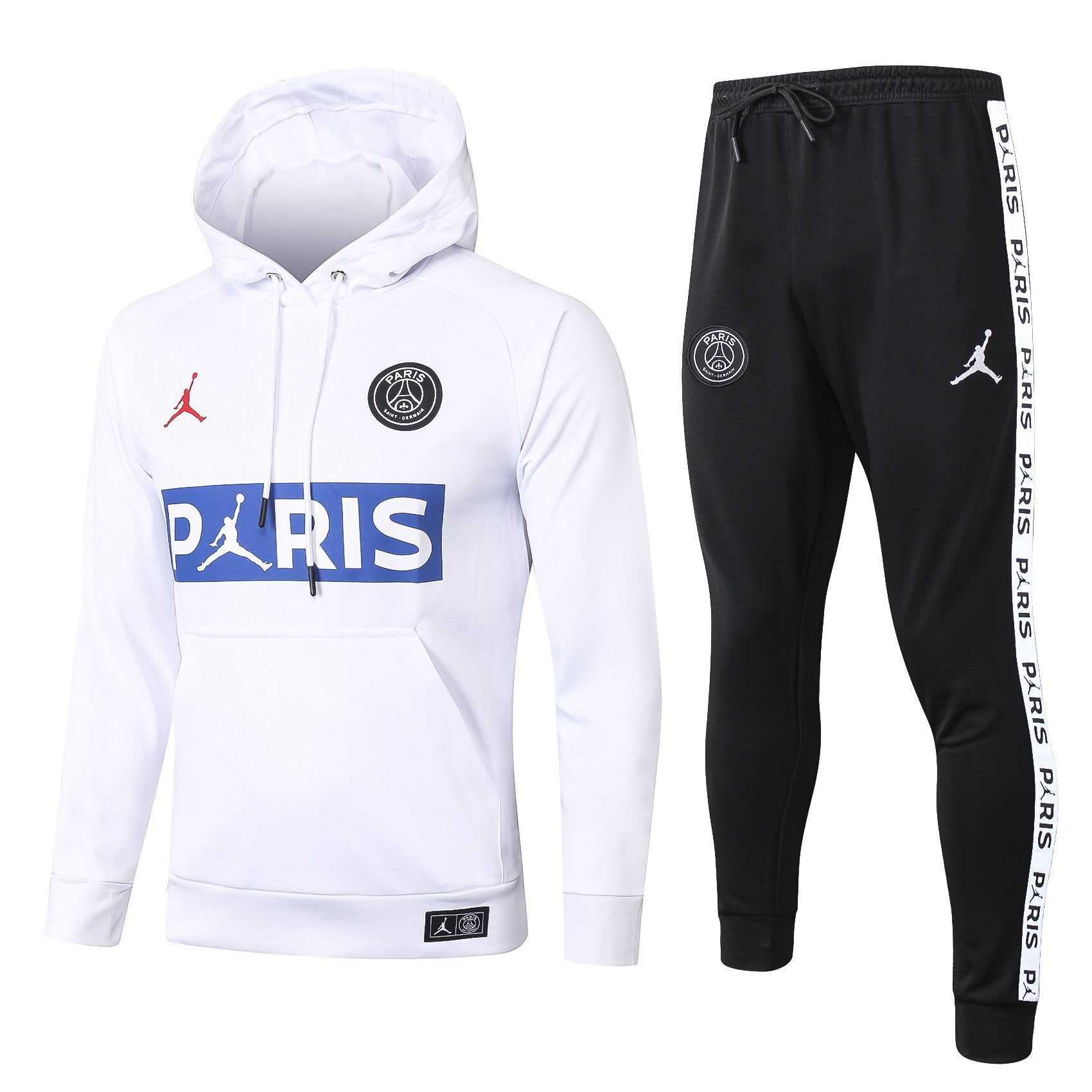 Sweat à Capuche + Bas de Survetement Blanc/Rouge PSG x JORDAN 2021 HOMME freeshipping - Foot Online