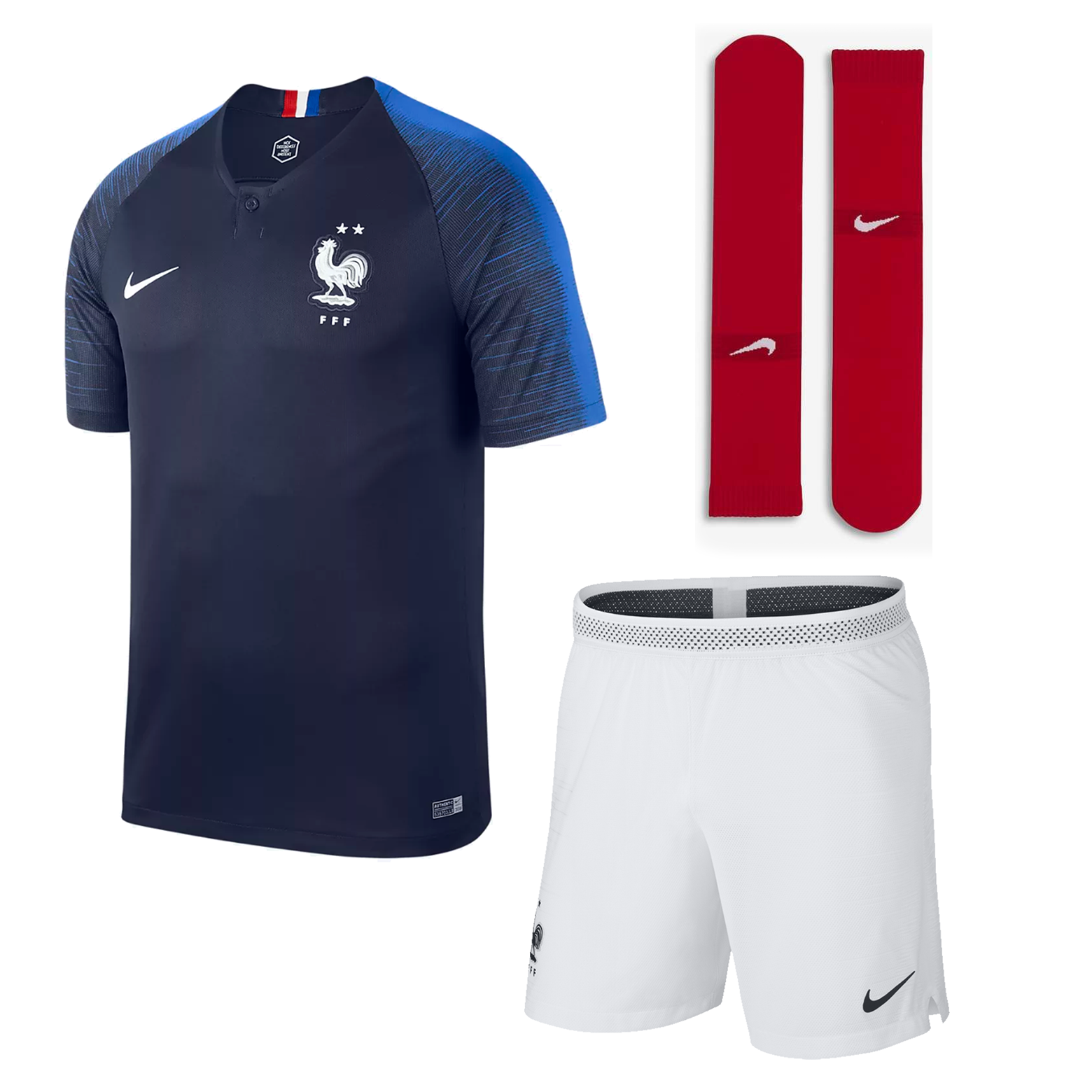 TENUE DE FOOTBALL FFF 2 ÉTOILES 2018/19 HOMME FRANCE FOOTBALL