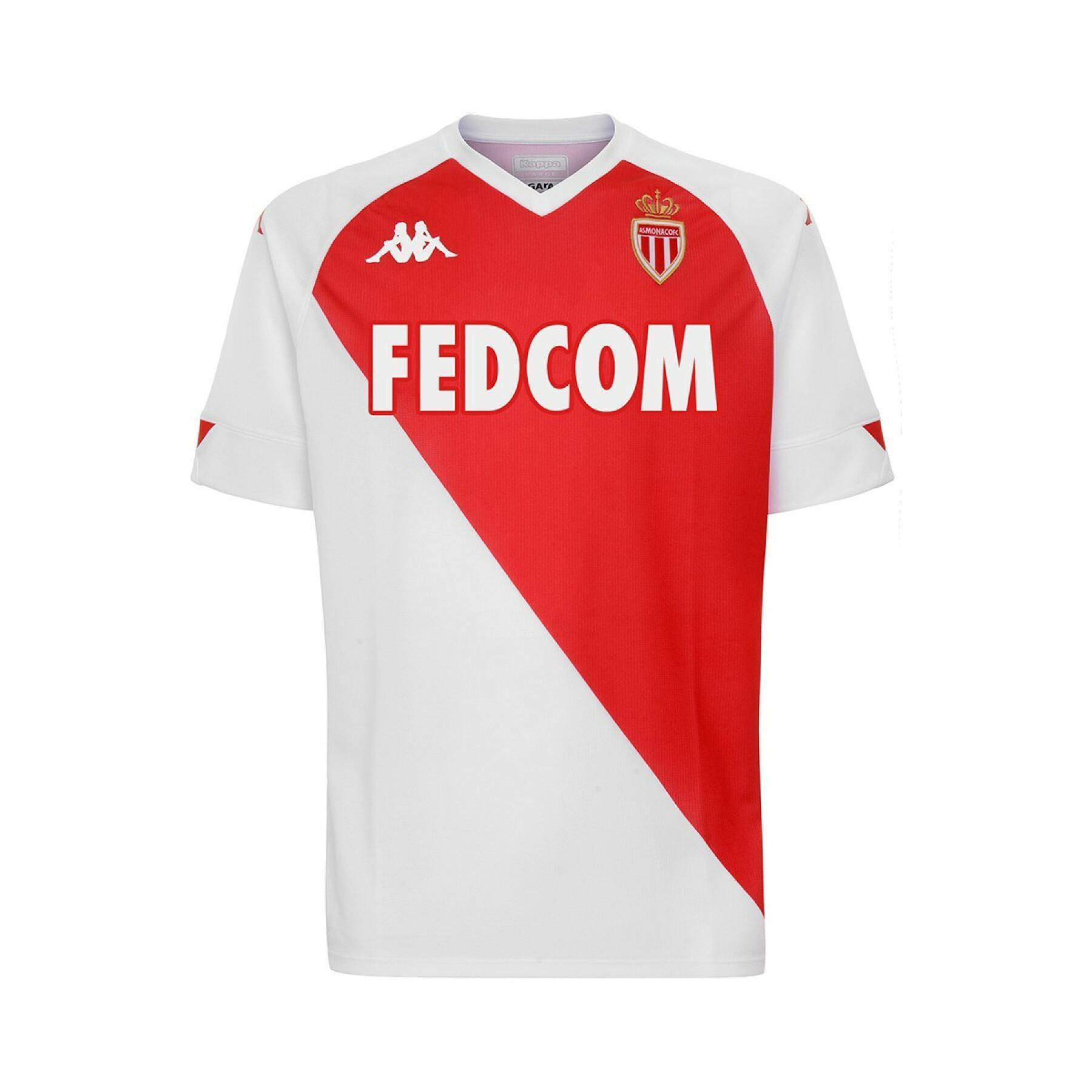 Maillot AS Monaco 2021 Domicile Homme Kappa freeshipping - Foot Online