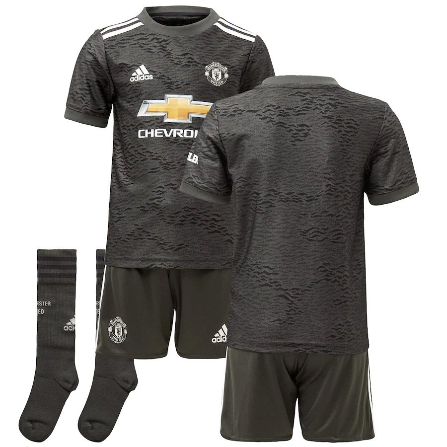 Maillot Kit Manchester United Away 2020 2021 - Enfant freeshipping - Foot Online
