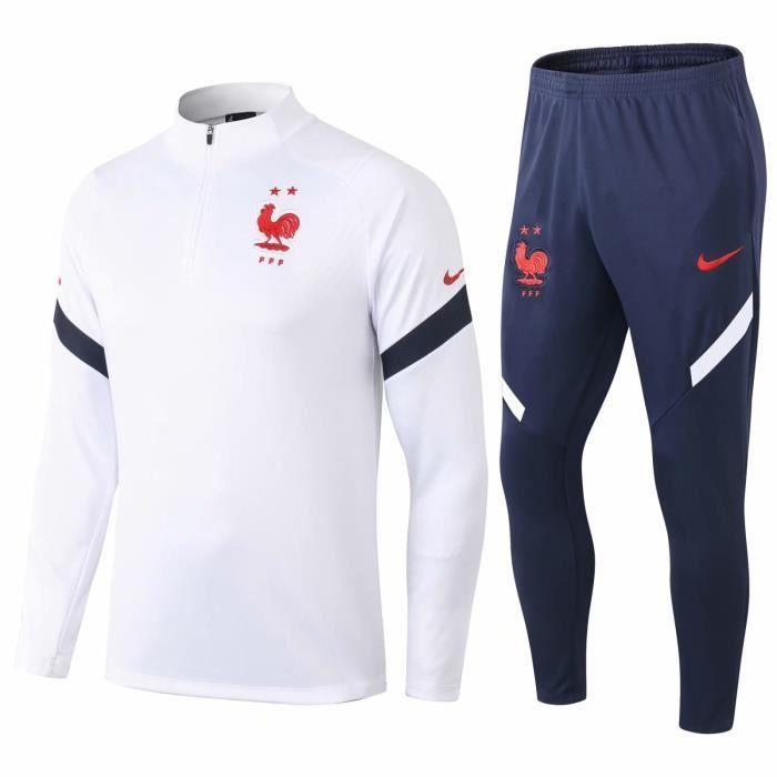 Survetement France FFF Nike 2 étoiles 2021 Junior Enfant Foot Online freeshipping - Foot Online