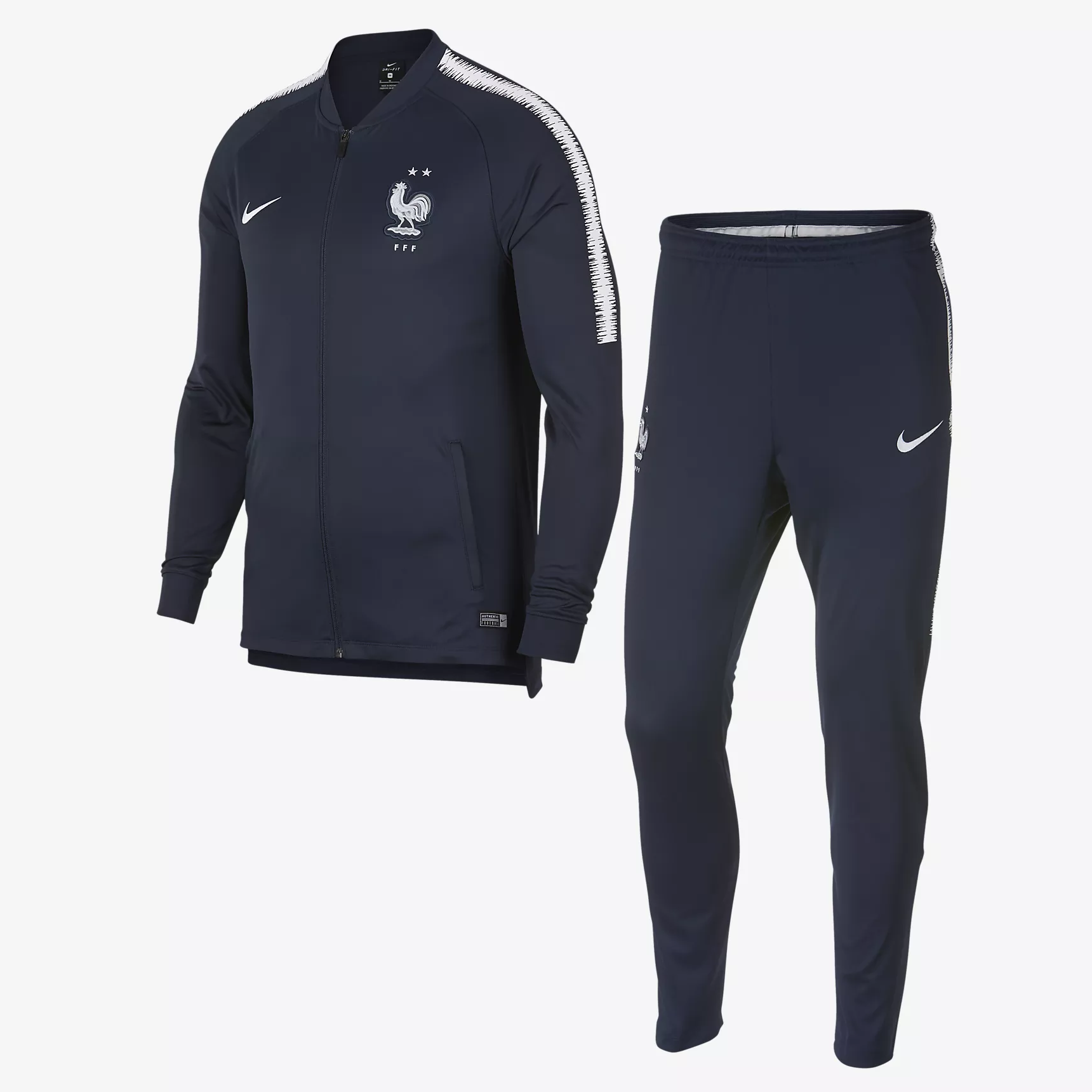 Survetement FFF Nike Junior (2 étoiles) 2018/2019 France Foot Online freeshipping - Foot Online