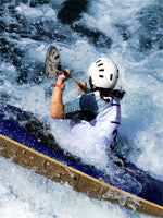 Paddling on the Tamihi Rapids