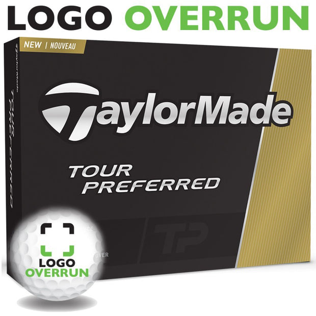TaylorMade Tour Preferred Golf Balls - Prior Generation logo overrun