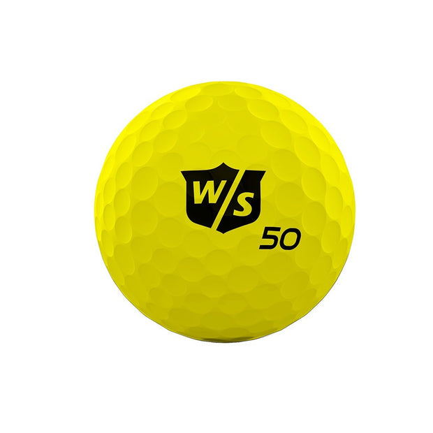 Wilson Staff 50 Elite Yellow Golf Balls