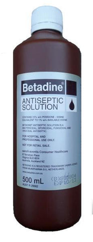 Betadine Iodine Solution 500ml