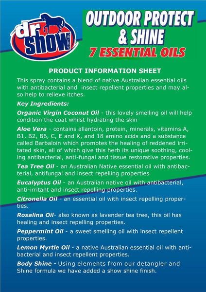 Dr Show Outdoor Protect & Shine 750ml | equine-passion-minerals.