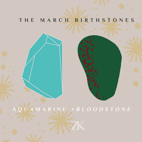Graphic showing digital versions of aquamarine and bloodstone.