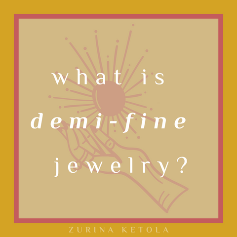 What is demi-fine jewelry graphic