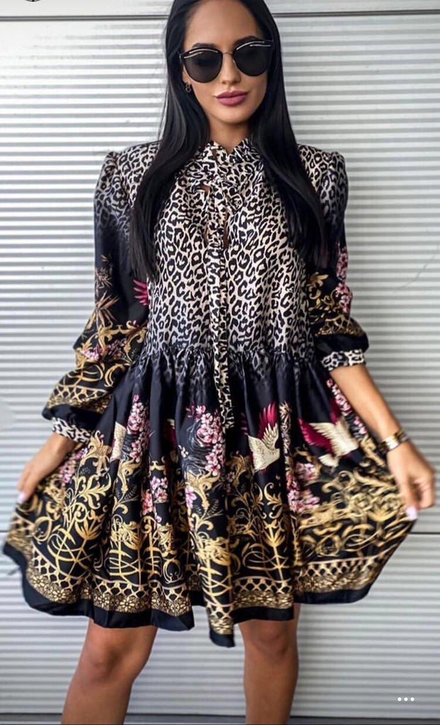 Leopar Dress - Suenos Boutique