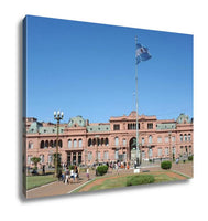 Gallery Wrapped Canvas, Casa Rosada On Plaza De Mayo At Buenos Aires