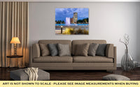 Gallery Wrapped Canvas, Jacksonville Florida City Lights At Night With Fountain