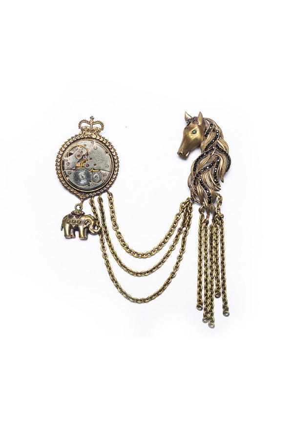 The Mustang-Timed Brooch