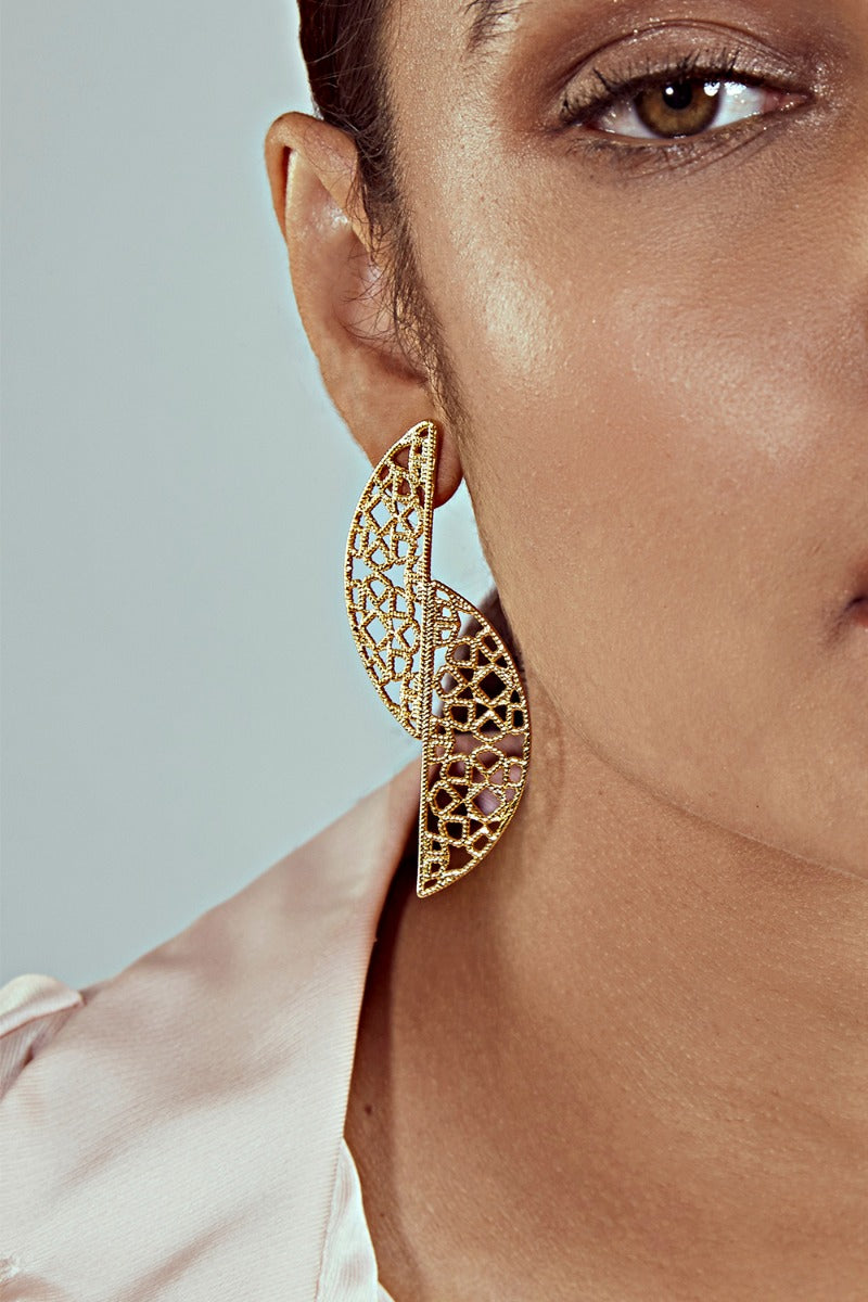 Gypsy Soul Inverted D Filigree Earrings