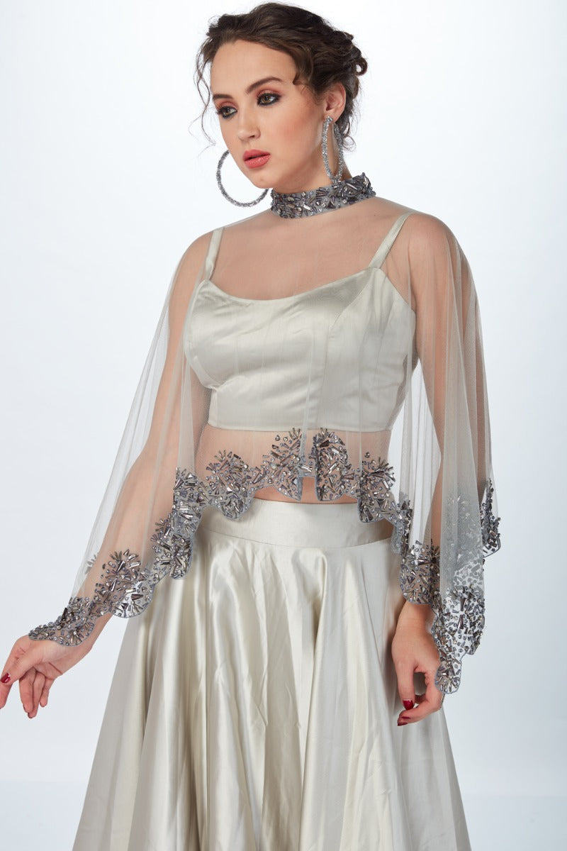 Ivory PRINCESS SKIRT WITH CAPE