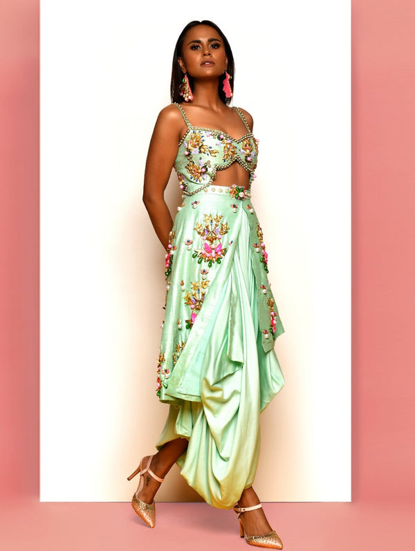 Mint Green Dhoti Jumpsuit