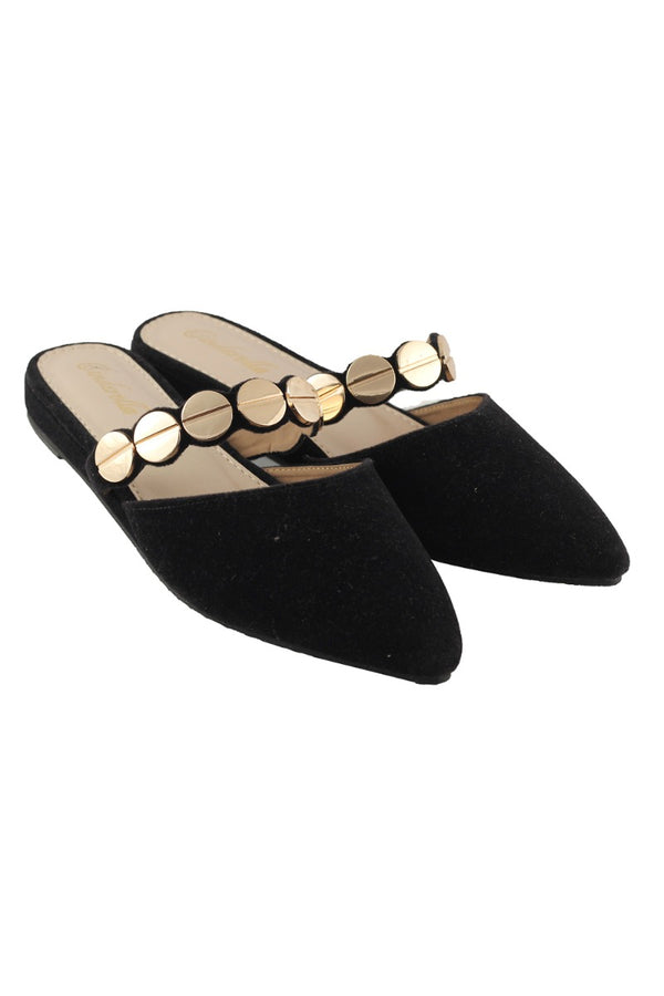 Sugar Black Pointed Flats