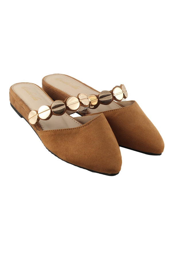 Sugar Tan Pointed Flats