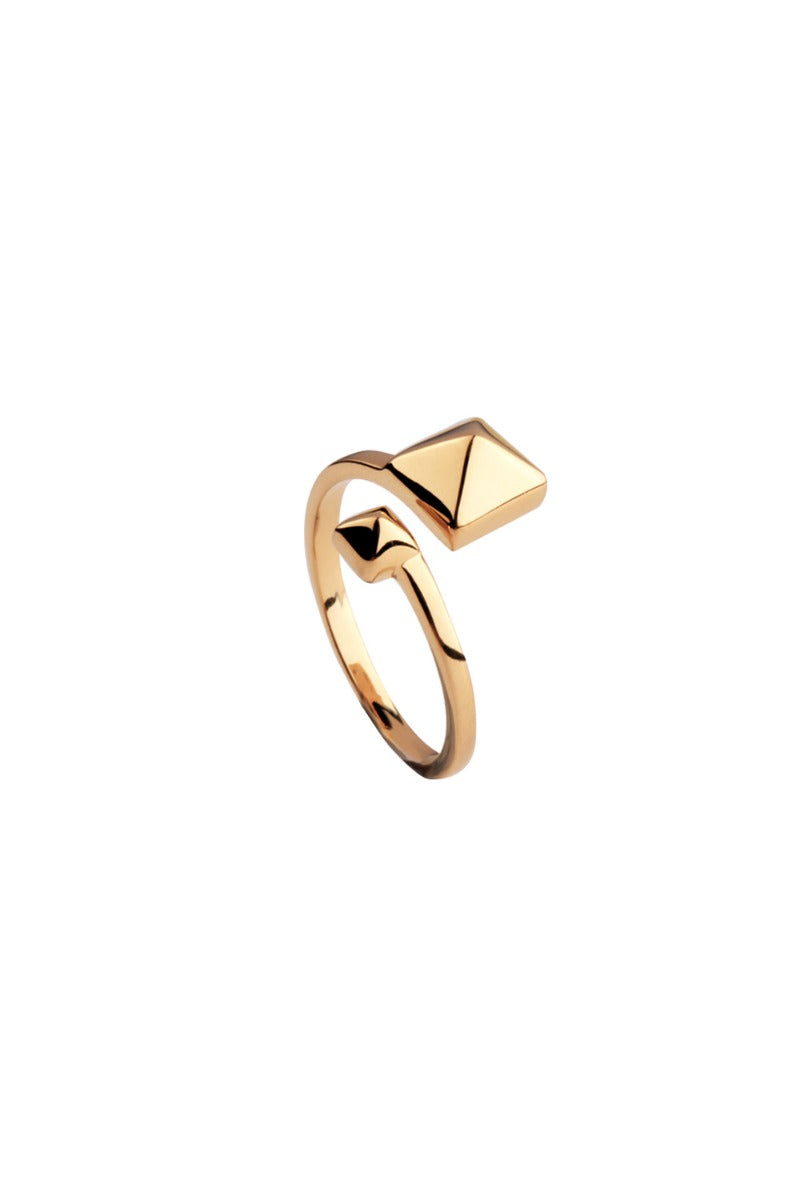 Minimalists Uneven Pyramid Ring